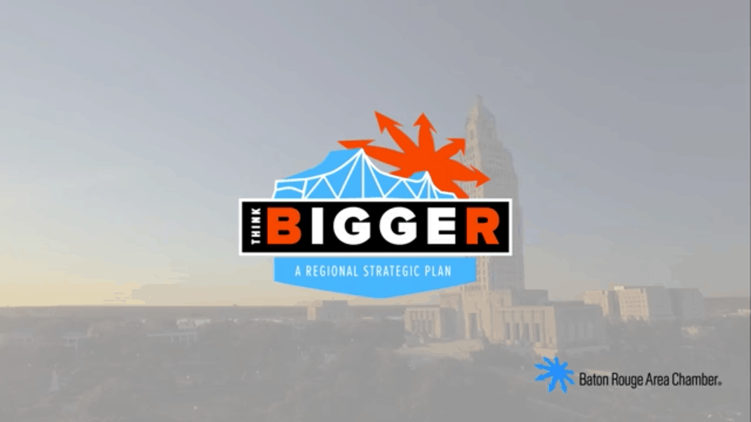 Think Bigger Logo for BRAC's regional strategic plan 2019
